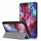 Femkeva 2019 Tablet-Hülle, ultradünn, Standfunktion, Smart Cover mit automatischer Aufwach- / Schlaffunktion für Amazon Kindle Fire 7 Tablet (9. Generation 2019) Galaxy