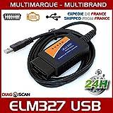 MISTER DIAGNOSTIC Diagnosegerät ELM327 OBD2 USB – Diagnose für mehrere Marken – Lesen von Fehler