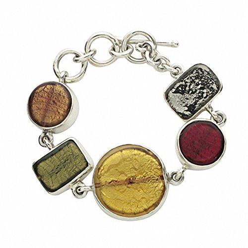 """Gabriella Nanni, Bracelet en argent 925avec verre de Murano-Verre Non déclaré-Bracelet Fantaisie """" Fantasia - F"""