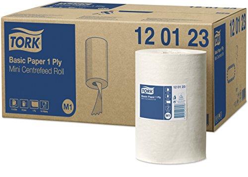 Tork 120123 Papier d'essuyage Universal - Blanc - 1 pli - lot de 11 rouleaux - 11 x 120 m