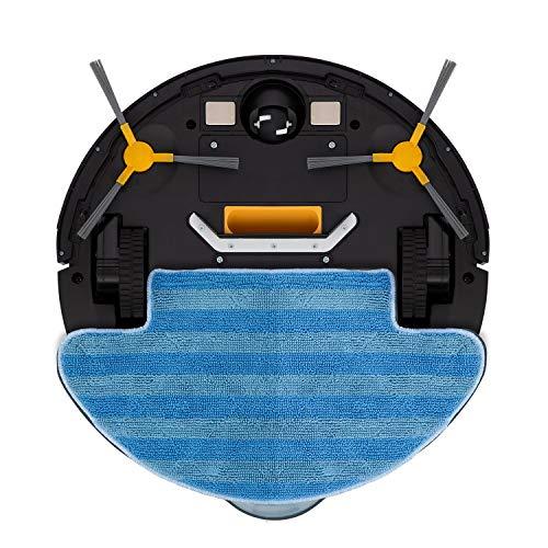 IKOHS NETBOT S12 - Robot aspirateur et nettoyeur silencieux, Navigation intelligente,Système de Nettoyage Puissant, Automatique, Convient Pour les Poils d'animaux, filtre hepa (Noir/Anthracite)