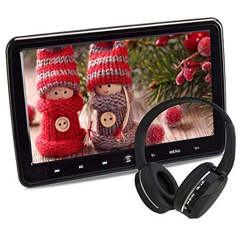Poggiatesta Auto Portatile Lettore DVD per Bambini Monitor da 10,1 Pollici con Sedile Posteriore USB SD Porta HDMI Giochi Telecomando senza fili