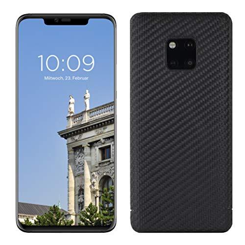 VIVERSIS echte Carbon Hülle für Huawei Mate 20 Pro, schwarz, ultradünn, sehr leicht, robust, kabelloses Laden, Premium Qualität - Made in Germany