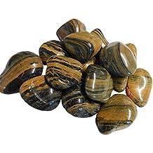 40kg Pulido Kiesel brillo Grava piedras de río piedras gartenkies Ornamentales Grava piedras decorativas) Color Marrón