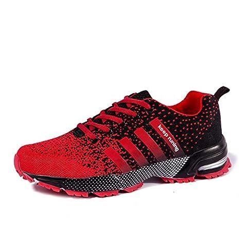 Mode Chaussures de sport en plein air été et automne baskets en tissu Mesh pour la randonnée la course l'escalade respirant et antidérapant , 8702 black , 43
