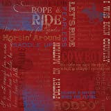 Unbekannt Karen Foster Design Scrapbooking Papier, rot, 12x12 Inches