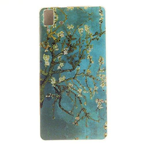 Frlife | Funda de silicona TPU suave para BQ Aquaris E5 / E5 HD / E5 FHD smartphone-diseño con pintura