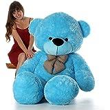 Pihu Enterprises Stuffed Spongy Hugable Cute Teddy Bear Cuddles Soft Toy For Kids Birthday / Return Gifts Girls Lovable Special Gift High Quality 3 FEET Color (BLUE)