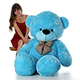 Pihu Enterprises Extra Large Very Soft 4 Feet Lovable/Huggable Teddy Bear with Neck Bow for Girlfriend/Birthday Gift/Boy/Girl (122 CM,BLUE)