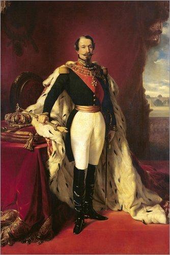 Posterlounge Acrylglasbild 120 x 180 cm: Napoleon III. von Franz Xaver Winterhalter/Bridgeman Images - Wandbild, Acryl Glasbild, Druck auf Acryl Glas Bild