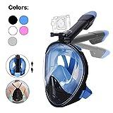 Unigear Tauchmaske, Faltbare Schnorchelmaske Tauchermaske Vollgesichtsmaske, mit 180 Grad Blickfeld und Kamerahaltung, Anti-Fog Anti-Leck Easybreath, für Erwachsene und Kinder -