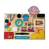 Montessori Busyboard Sinneswand 'Kleiner Wissenschaftler' 60 x 40 cm