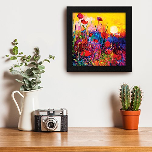Story@Home Exclusive Frame Blooming Sunrise Wall Art Framed Painting (Wooden, 30 cm x 3 cm x 30 cm), Multicolour