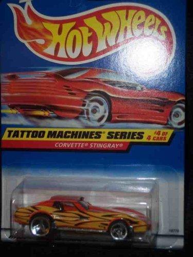 Tattoo Machines #4 Corvette Stingray 3-Spoke #688 Mint by Hot Wheels (Hot Wheels Tattoos)