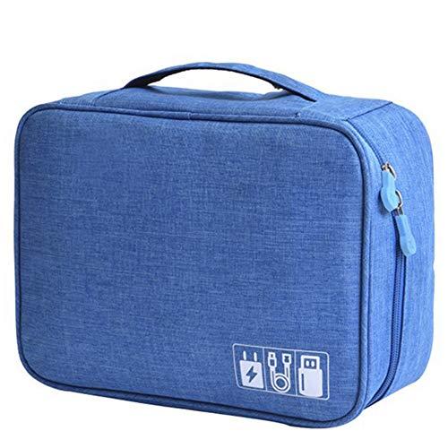 Dandeliondeme Tragbare Wasserdichte Diskette-Speicher-Beutel-Organisator-Reise-Kosmetik-Etui Blue (Wasserdichte Kosmetik-etui)