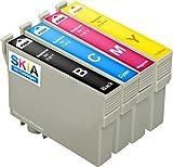 4-Stück Skia kompatible Tintenpatronen als Ersatz für Epson 18 XL Expression Home XP 425 102 202 205 212 215 225 30 302 305 312 315 322 325 402 405 412 415 422