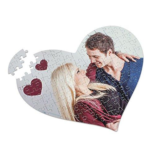 Herz-Puzzle aus Karton, 115 Teile, mit individuellem Fotodruck