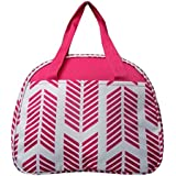 LU Aztec Feather Arrow School Work Camp Travel Insulated Lunch Box Bag Jp White (Pink)