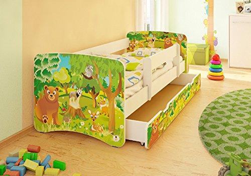 Kinderbett + Schublade Auswahl in 3 Größen