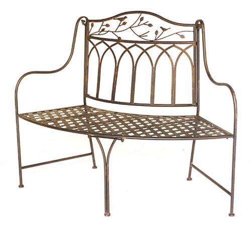"Romantische Gartenbank ""Avis"" Metall halbrund Breite 130 cm"