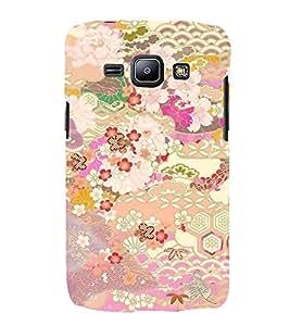 Fiobs Designer Back Case Cover for Samsung Galaxy J1 (2015) :: Samsung Galaxy J1 4G (2015) :: Samsung Galaxy J1 4G Duos :: Samsung Galaxy J1 J100F J100Fn J100H J100H/Dd J100H/Ds J100M J100Mu (Flowers Theme Floral Love Lovely Gift)