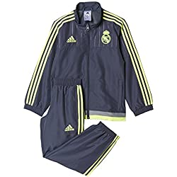 adidas Real Madrid Club de Futbol PR Suit I 2015/2016 - Chándal, color negro / amarillo, talla 104