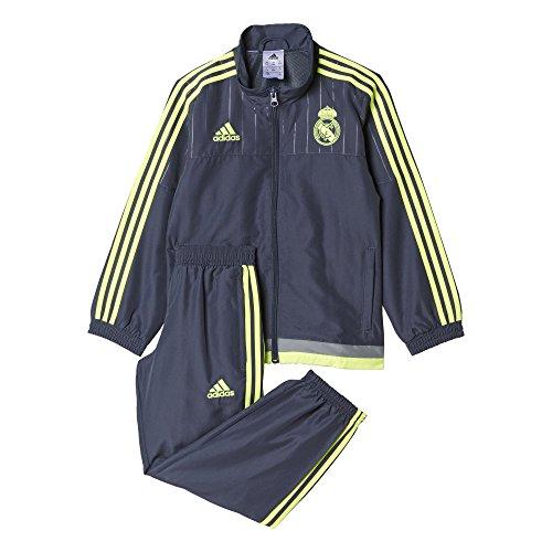 Adidas Real Madrid Club de Futbol PR Suit I 2015/2016 - Chándal, Color Negro/Amarillo, Talla 104