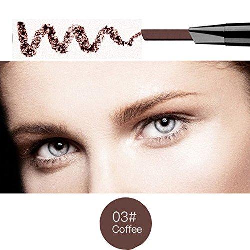 Magical Halo Precision Stir Liner Doppel-Augenbrauen Bleistift mit Augenbrauenstift Pinsel Tools 5 Farben Kaffee Packung von 1 -