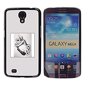 Be Good Phone Accessory // Hartschalen Handyhülle Schutzhülle Schutz Etui Hülle für Samsung Galaxy Mega 6.3 I9200 SGH-i527 // Poster Spring Fashion Floral Design