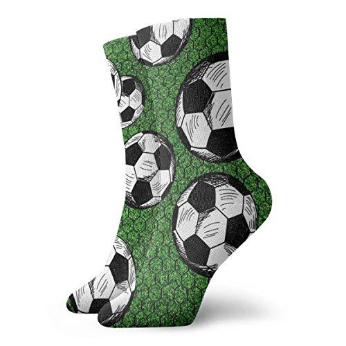 Dezzert030 Fu?b?lle und Net Adult Short Socks Baumwolle Coole Socken f¨¹r Herren Damen Yoga Wandern Radfahren Laufen Fu?ball Sport