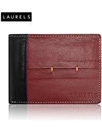 Laurels Bloke Red Leather Men's Wallet (Lw-Blk-1002)