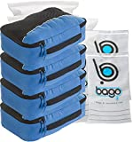 Packing Cubes 4pcs Value Set for Travel , Luggage Organizers – Medium (Blue Tale)