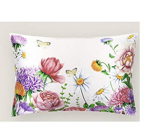 ayuxin Kissenbezug Aus Reiner Naturseide Blume Reißverschluss Kissenbezug Kissen Set 100% Seide Aus Gesunder Seide Seidig Seidig Atmungsaktiv Seidig Nahtlose Luxusbettwäsche Wird Geladen -