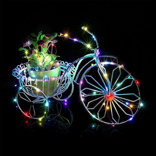 SmileyEU 2m 20LED guirnalda de luces funciona con pilas impermeable para exterior luz tiras Festival Navidad Jardín