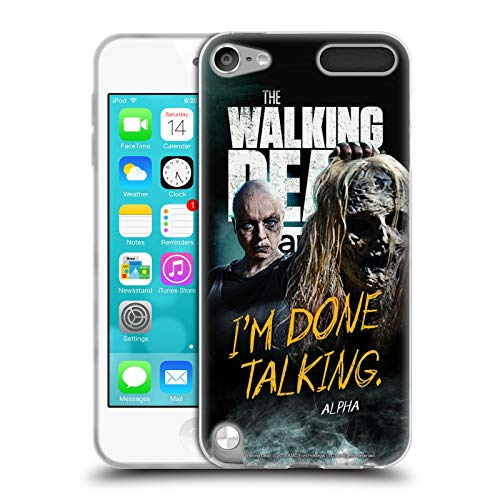 fizielle AMC The Walking Dead Alpha Staffel 9 Zitate Soft Gel Huelle kompatibel mit Apple iPod Touch 5G 5th Gen ()