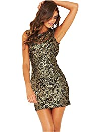 Lipsy Lace Low Back Club Evening Bodycon Party Dress