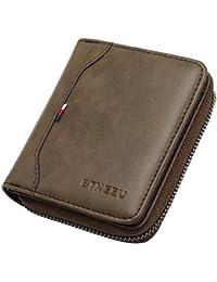 923db1f798 Portafoglio uomo in pelle RFID Lock BTNEEU Biflod Portafoglio uomo con  cerniera 19 Porta carte, Portafoglio con…