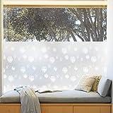 Rabbitgoo Fensterfolie Selbstklebend Sichtschutzfolie Milchglasfolie für Bad Statische Folie Anti UV mit Motiv Muster Upgrade Pusteblume 44.5 x 200CM