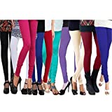 Women's Cotton Lycra Leggings Combo (Pac...