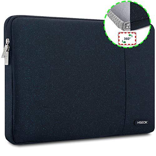 HSEOK 15,6 Zoll Laptop Hülle Tasche,Stoßfeste Wasserdicht PC Sleeve kompatibel mit die meisten 15,6 Zoll Laptops Dell/HP/Lenovo/Acer/Ausu,Blauer Punkt
