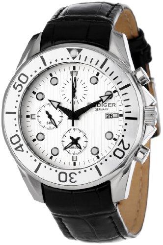 Rudiger Men's Watch XL Analogue Chemnitz Leather R2001Charm 001.1l