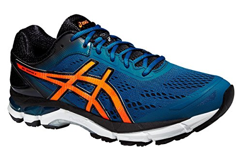 ASICS GEL PURSUE BLEUE Chaussures de running MOSAIC BLUE / HOT ORANGE / ONYX