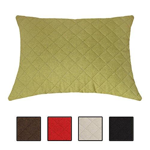 XXL-Wohlfühlkissen Sofakissen Dekokissen für Bett, Couch und Sessel. Auch als Louge-, Palettenkissen oder Kopfkissen. 5 Unifarben, Größe 60x80 cm. Farbe: (Grün)