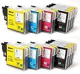 20 XL compatibile Cartucce d'inchiostro Brother LC985 LC39 (8x nero + 4x ciano + 4x magenta + 4x giallo)
