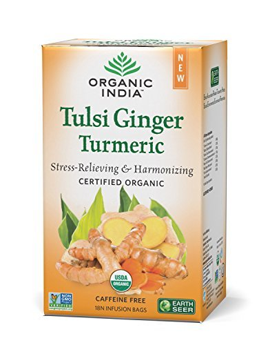 Organic India Tulsi Ginger Turmeric Tea-25 Infusion Bags  available at amazon for Rs.135