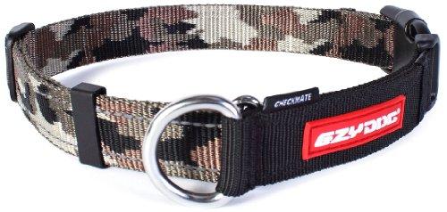 EzyDog Checkmate Hundehalsband - Halsband Hund - Zugstopp Halsband für Hunde - Zughalsband für hunde - Trainings und Dressurhalsband. Schlupfhalsband für Große, Mittlere und Kleine Hund (XL, Camo)