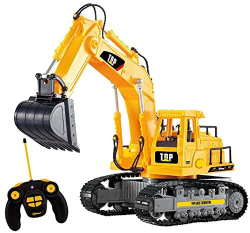 Top Race� 7 Channel Full Functional RC Excavator, Battery Powered Electric RC Remote Control Construction Tractor With Lights & Sound (TR-111)