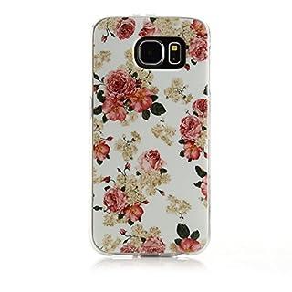 ArktisPRO 1126128 ArtCase Flower Power Hülle für Samsung Galaxy S6 Rose