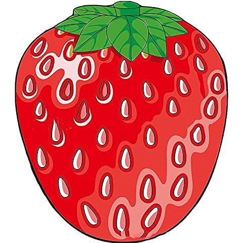 Lugii Cube extérieur d'été en microfibre rond Serviette de plage Style Nourriture Fruits Tapis de plage Couverture de bain Serviettes de bain pour, style:1 strawberries