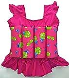 Schwimmhilfen-Anzug für Kleinkinder mit verstellbarem Auftrieb, Pink Love